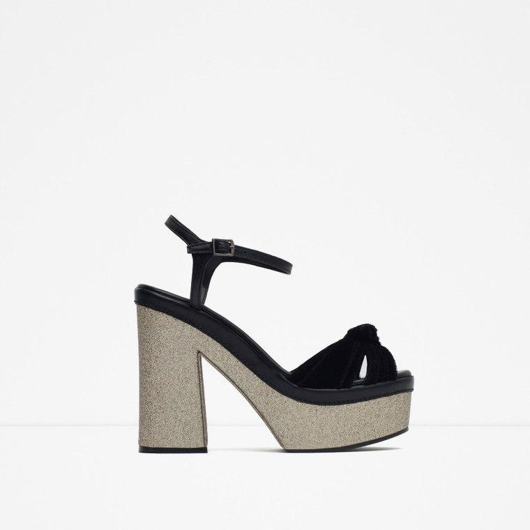Sandale à plateforme, 69.95 euros - Zara
