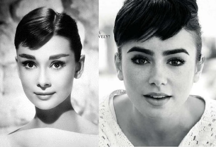 Audrey Hepburn / Lilly Collins, lookalike !
