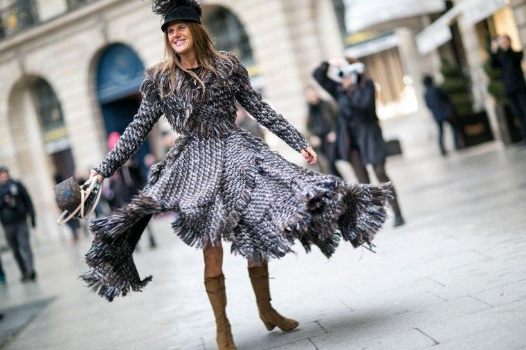 Ana Dello Russo se prends pour un aigle (Redac chef du Vogue Japan)